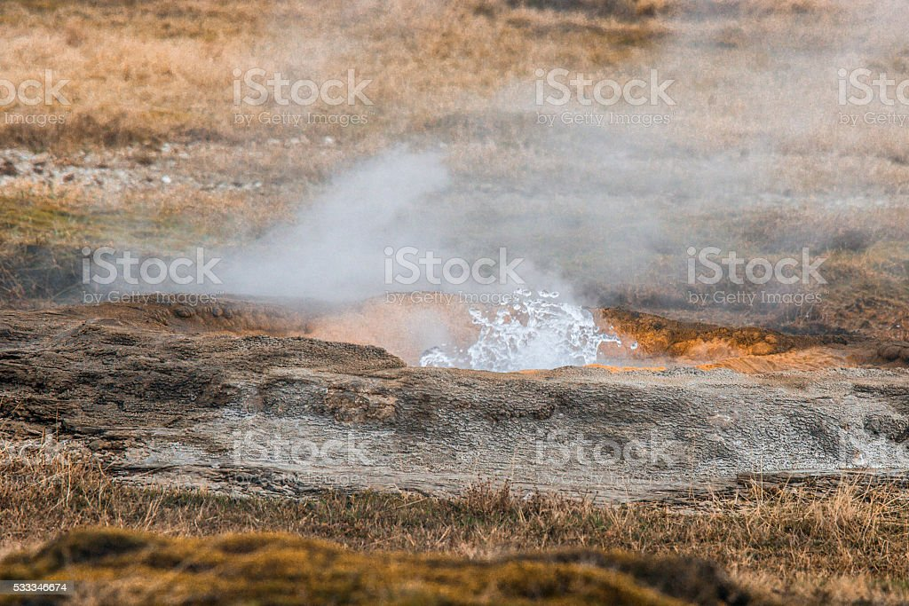 Geothermal nature in Iceland stock photo