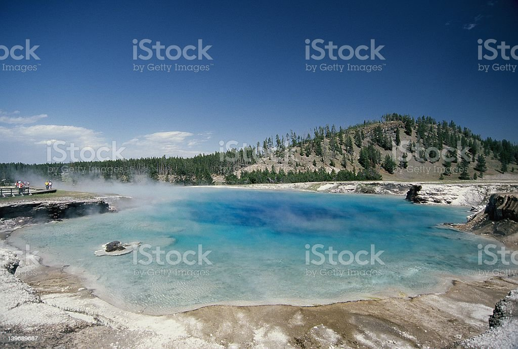 Geothermal Pool, Yellowstone National Park stock photo