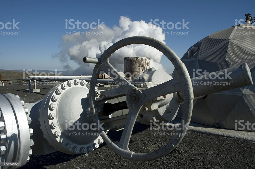 Geothermal power royalty-free stock photo