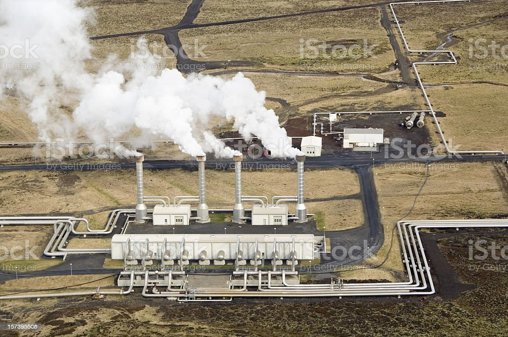 Geothermal Power Plant, Iceland stock photo
