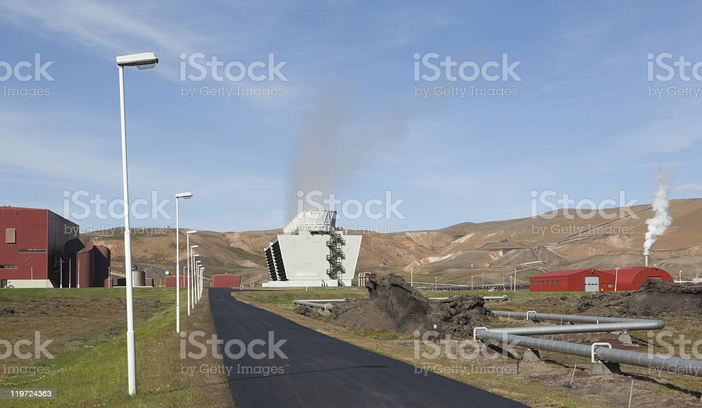 Geothermal Power Plant in Iceland royalty-free stock photo