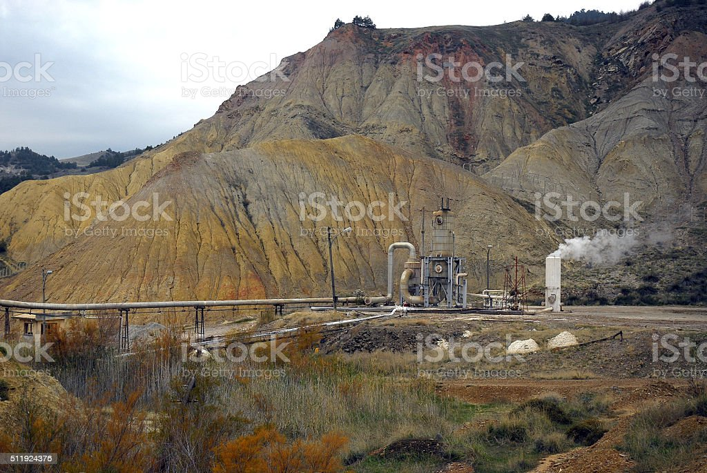 Geothermal Power Plant, Turkey stock photo