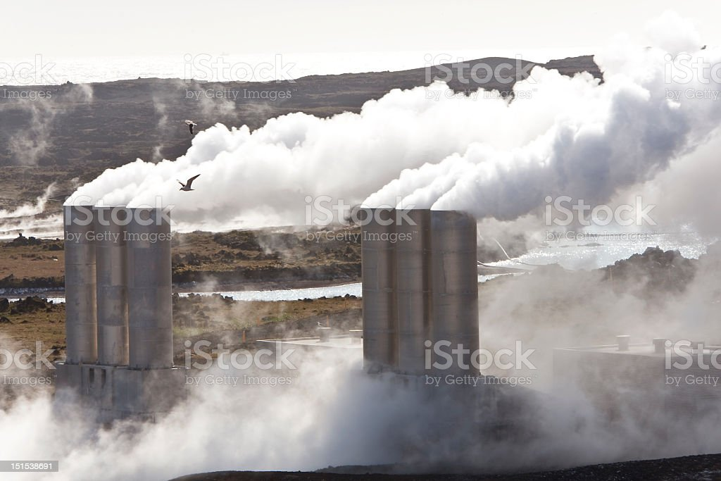 Geothermal Power Station in Iceland stock photo