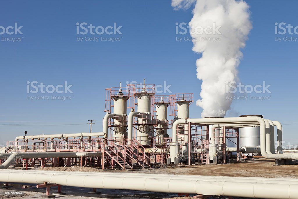 Geothermal Power Station royalty-free stock photo