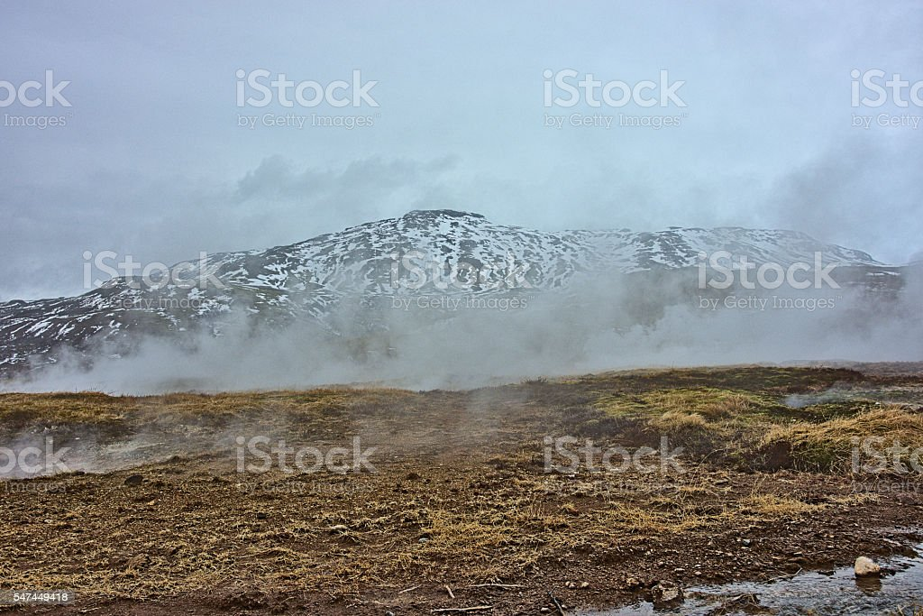 Geothermal Steam stock photo