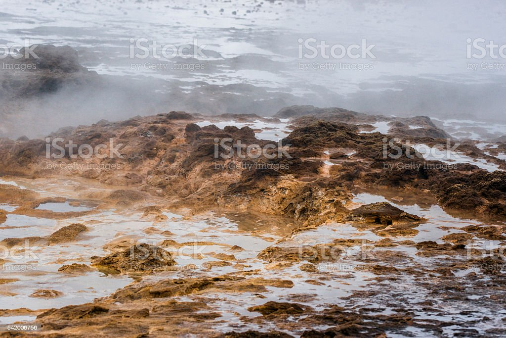 Geothermal surface in icelandic nature stock photo