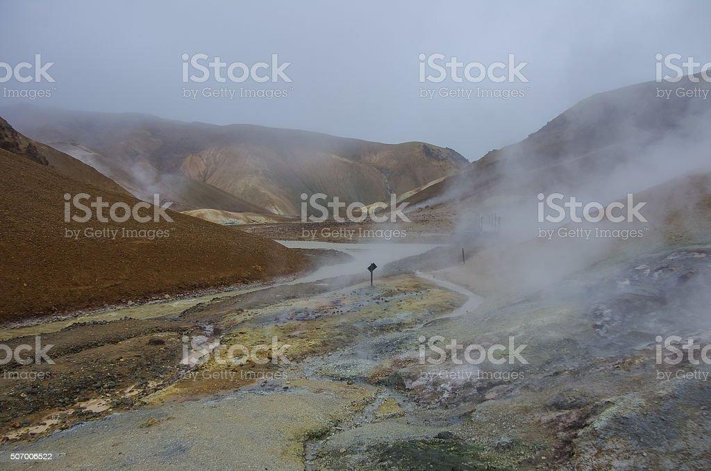 Geothermal Valley Kerlingarfjoll, Iceland stock photo