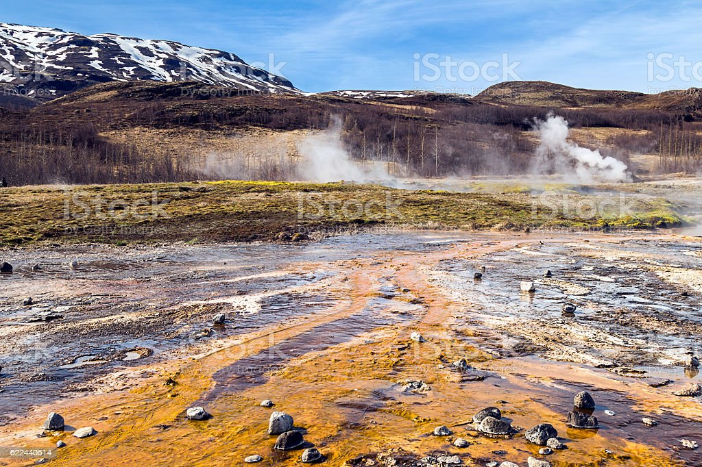 Geothermal zone in Iceland stock photo