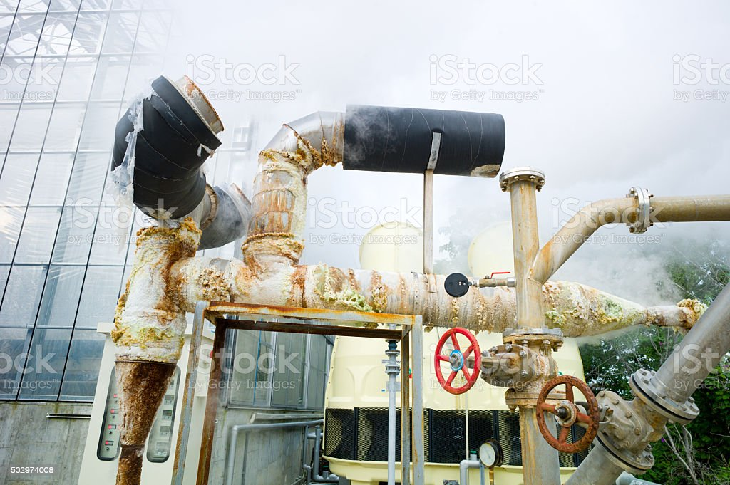 Geothermic Plant, Beppu, Japan stock photo