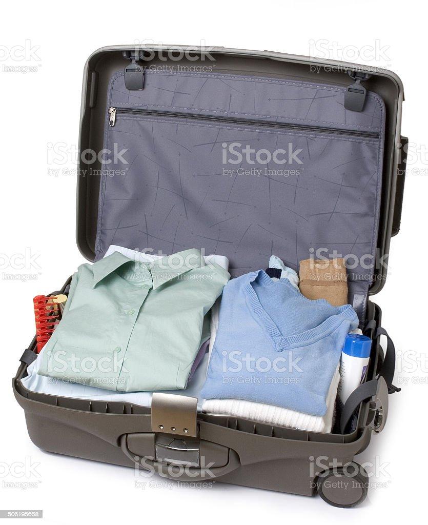 gepackter Koffer stock photo