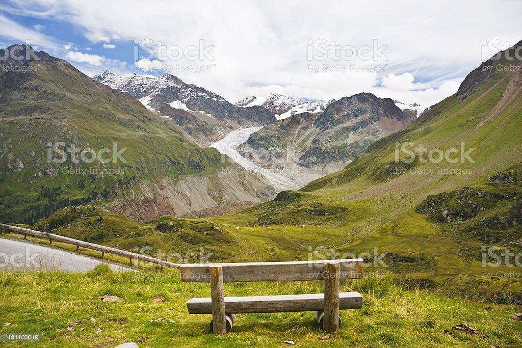 Gepatschferner at Kaunertal, Austrian Alps royalty-free stock photo