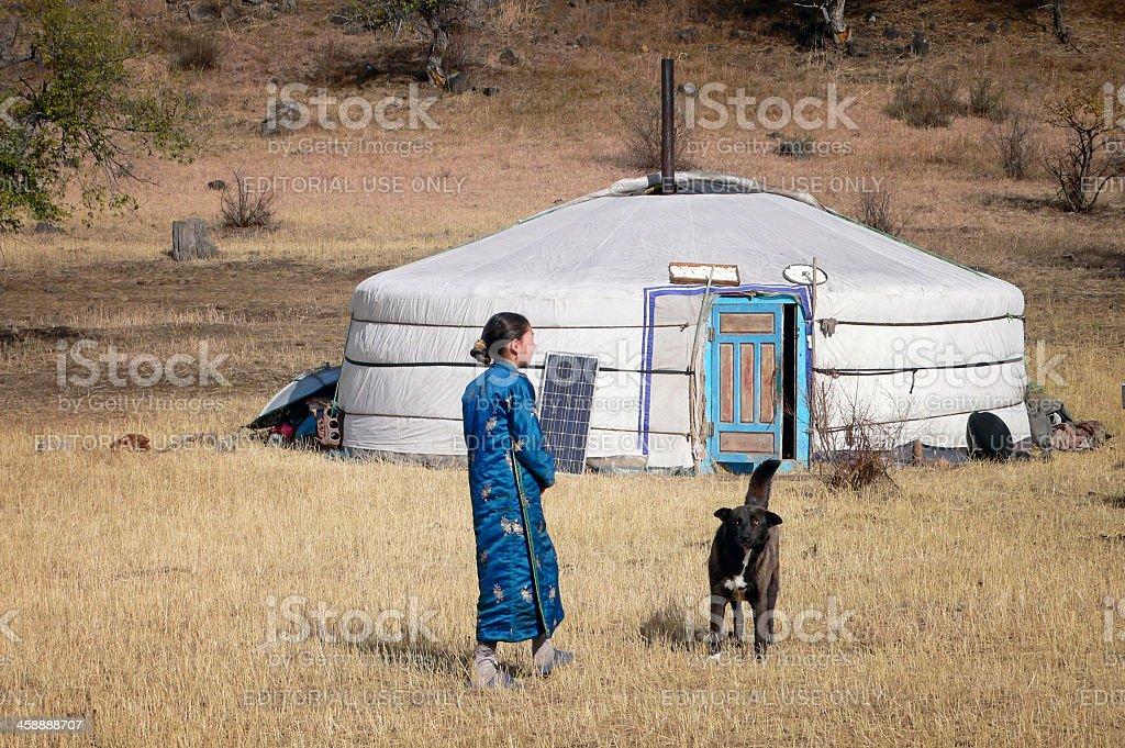 Ger / Yurt  in Mongolia royalty-free stock photo