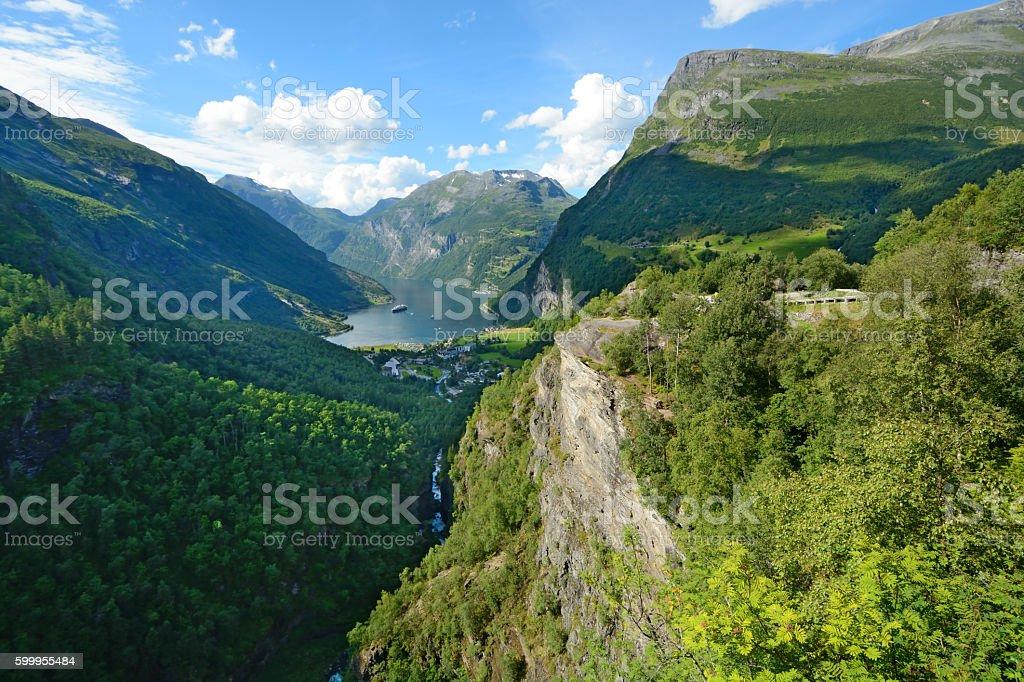Geraingerfjord stock photo