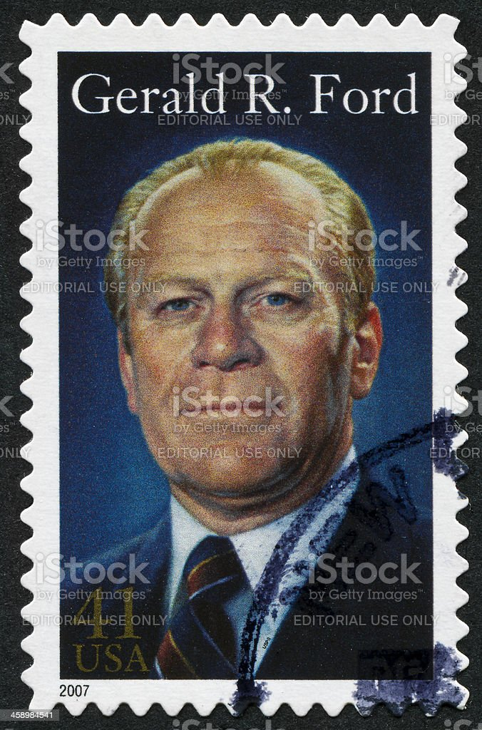 Gerald R. Ford Stamp royalty-free stock photo