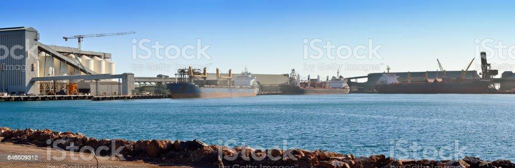 Geraldton Port, Western Australia stock photo