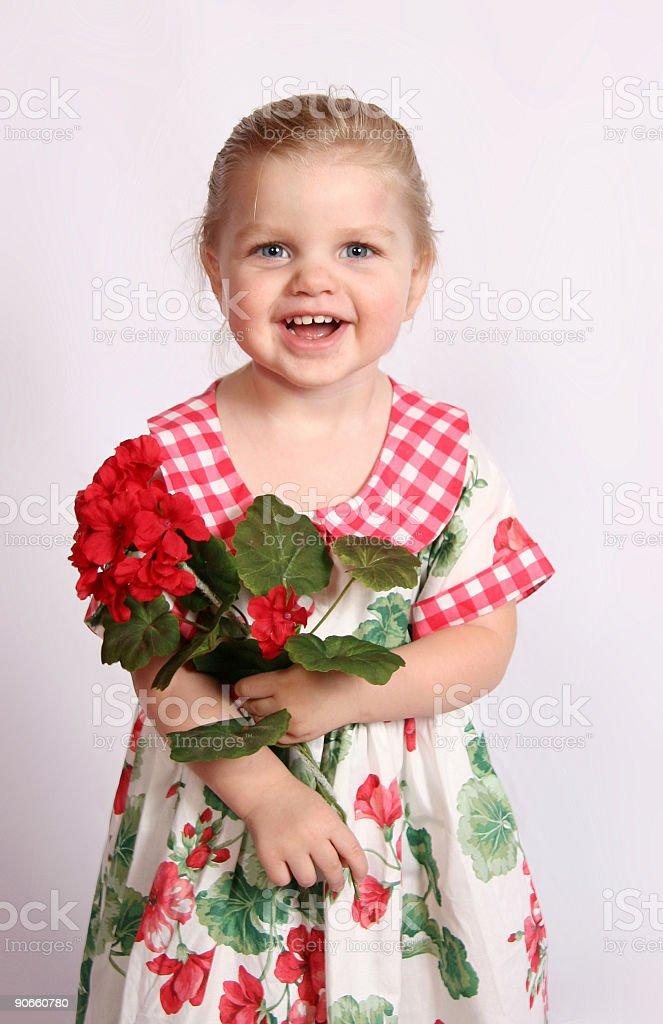 Geranium Girl I stock photo