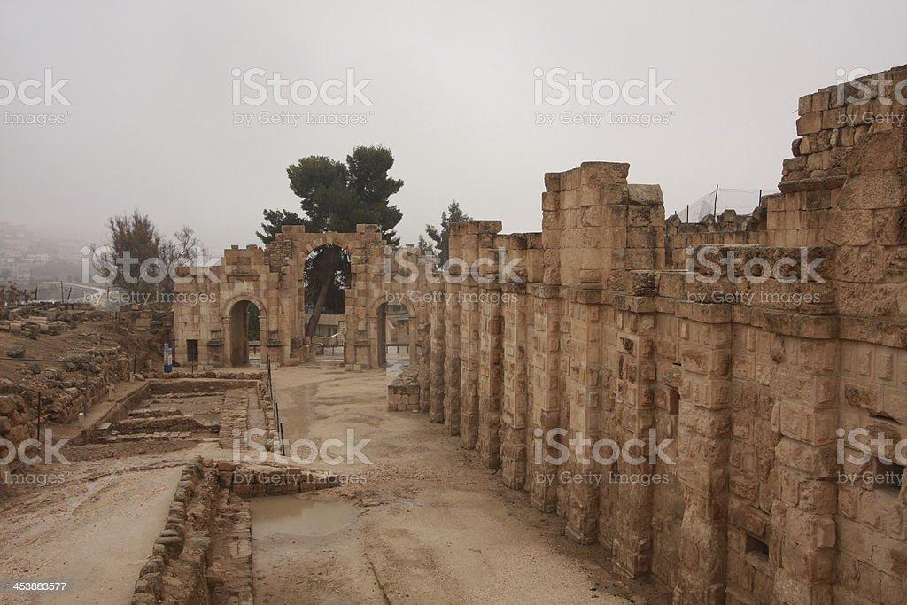 Gerash Jordanien royalty-free stock photo