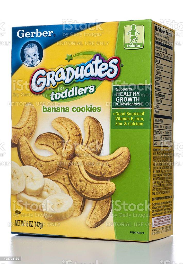 Gerber Graduates for Toddlers banana cookies box stock photo