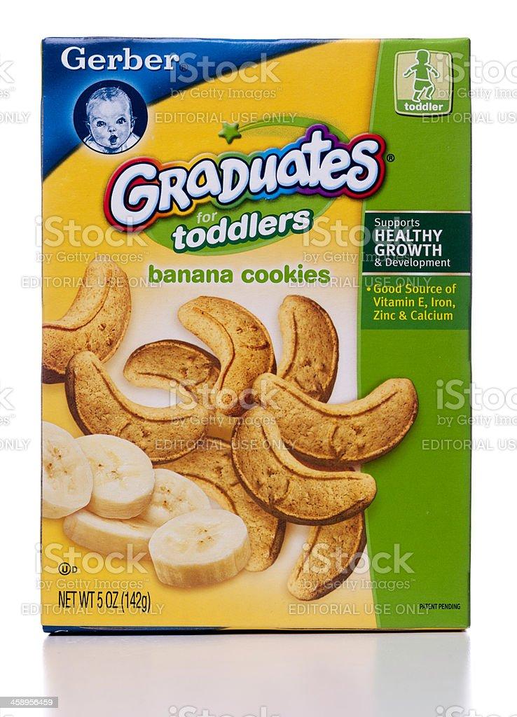 Gerber Graduates for Toddlers banana cookies box royalty-free stock photo