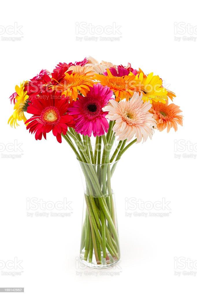 Gerberas bunch in a vase stock photo