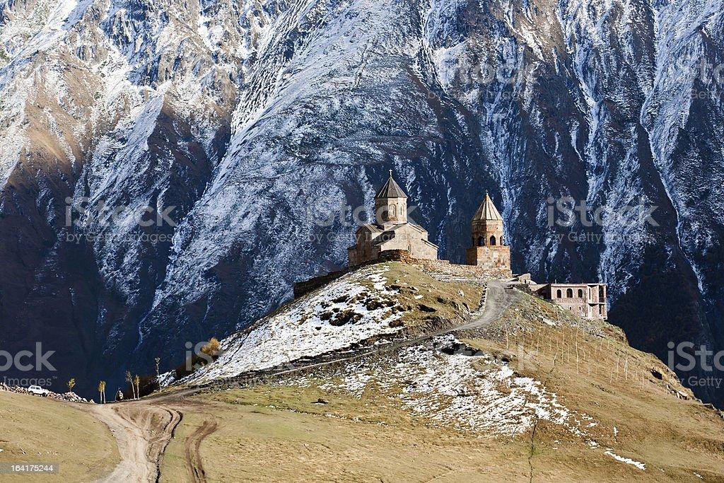 Gergeti church royalty-free stock photo