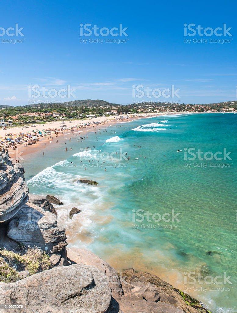 Geribá Beach - Búzios summer time royalty-free stock photo