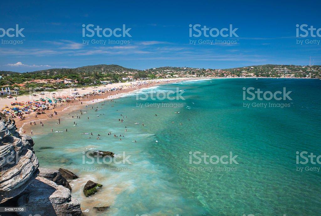 Geribá Beach during summer royalty-free stock photo