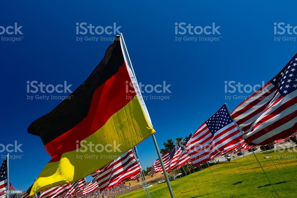 German American Relations stock photo