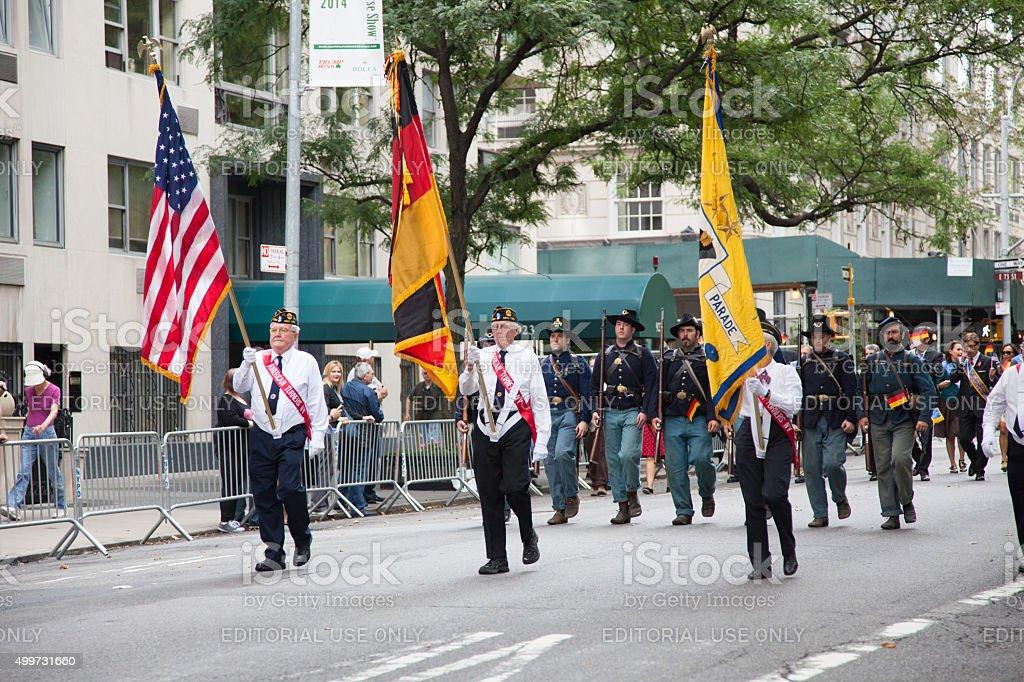German American Steuben Parade stock photo
