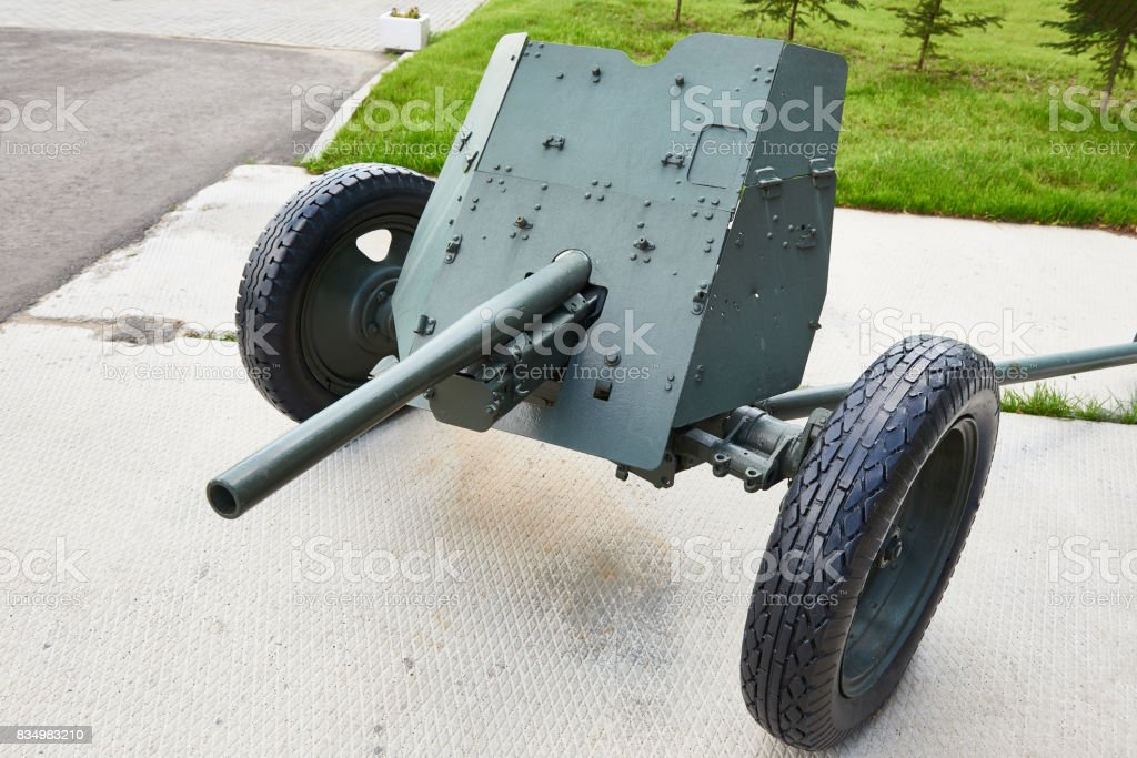 German anti-tank gun Pak 36 stock photo