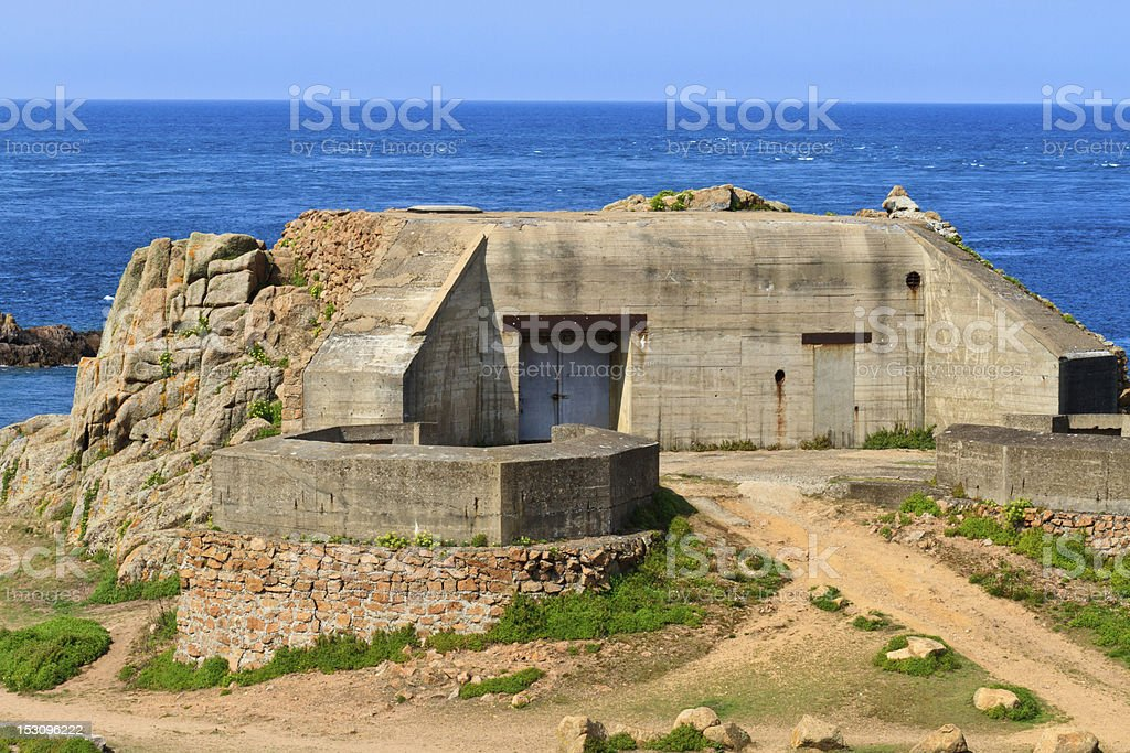 German Atlantic Wall Bunker, Jersey stock photo