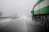 German Autobahn, bad weather conditions