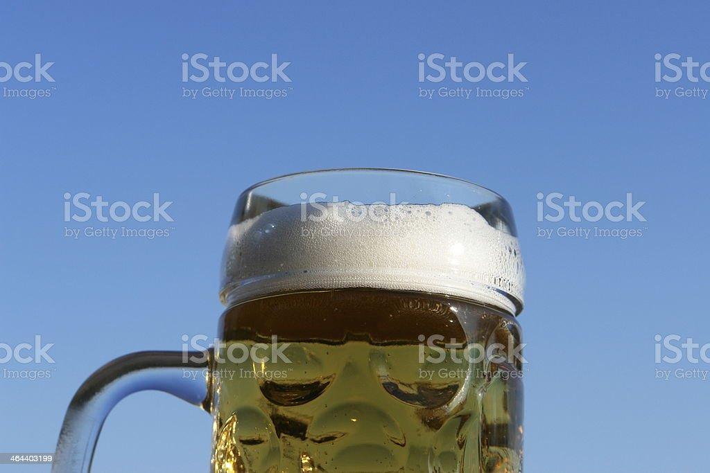 German beer glass sky stock photo