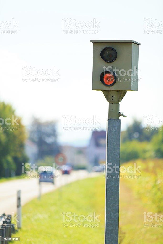 german 'blitzer' / speed camera stock photo