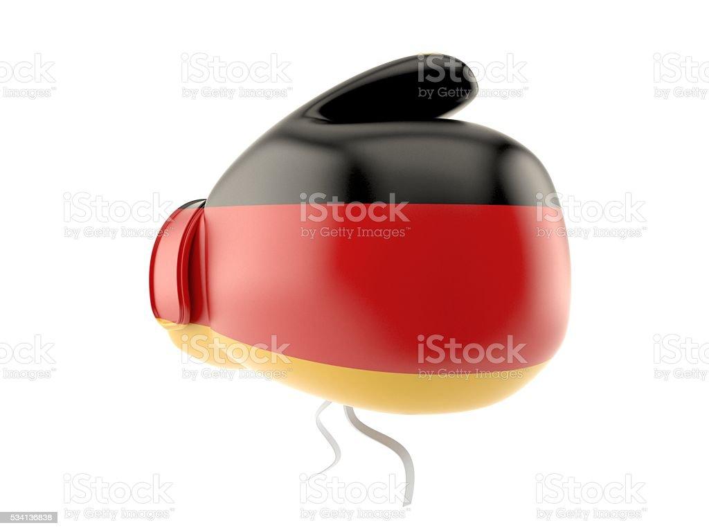 German boxing glove stock photo