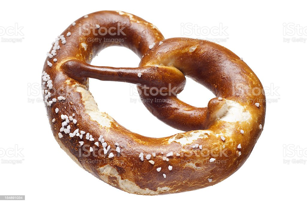 German bread pretzel on a white background stock photo