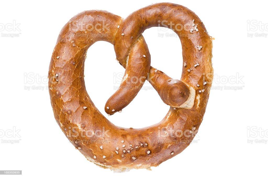 German bread pretzel on a white background stock photo