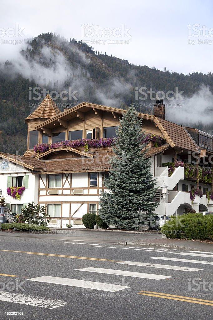German Buildings in Leavenworth, Washington stock photo