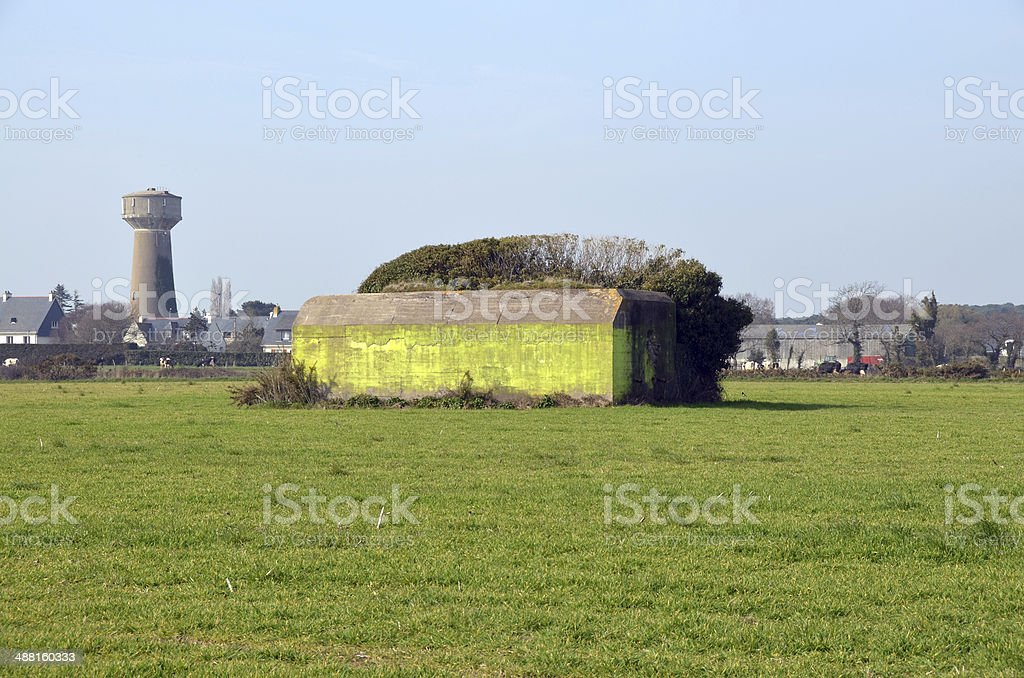 German bunker in Kerpape, Lorient, Brittany. stock photo