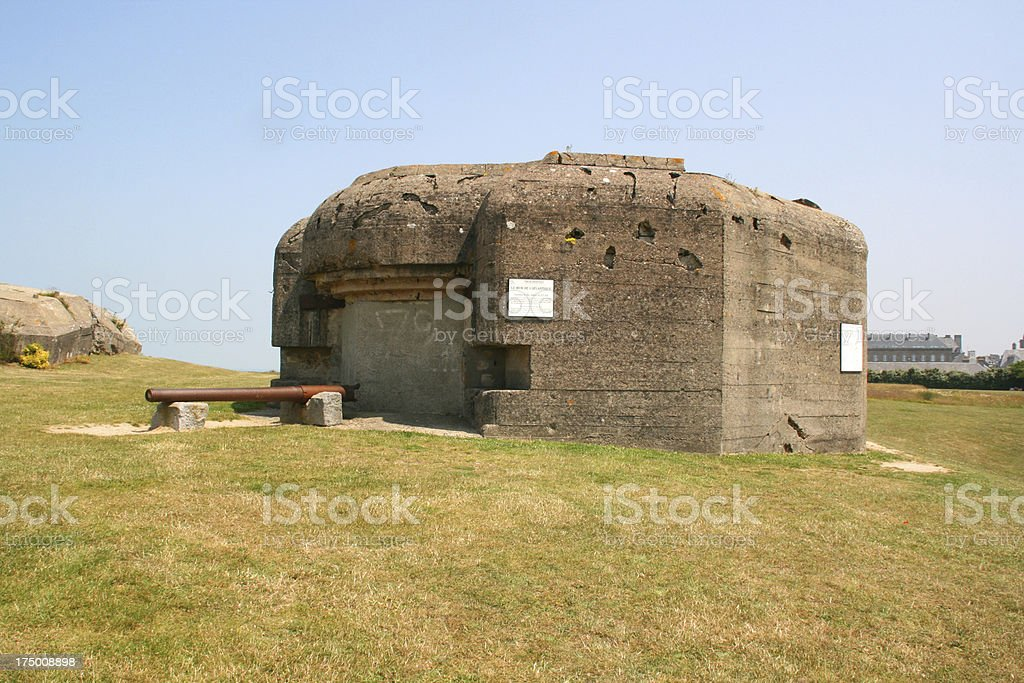 German bunker in Normandy from the Second World War royalty-free stock photo