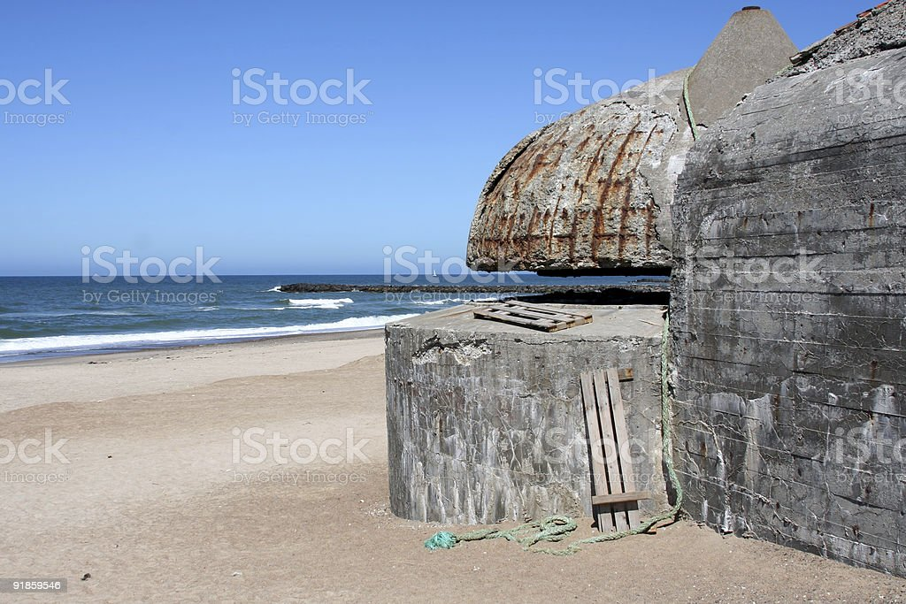 German bunkers from World War II - 2 royalty-free stock photo