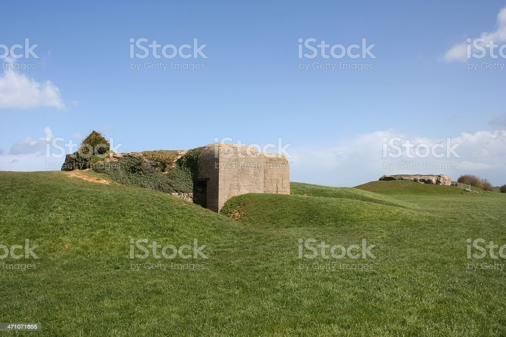 German Bunkers on the Normandy Coast royalty-free stock photo