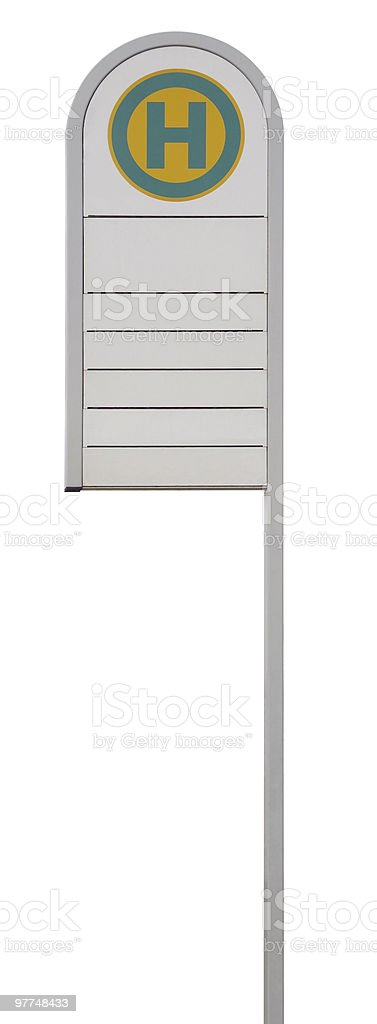 german bus stop sign stock photo