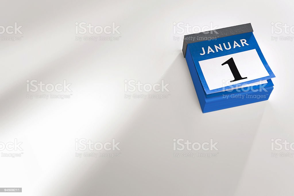 German calendar new year 2016 royalty-free stock photo