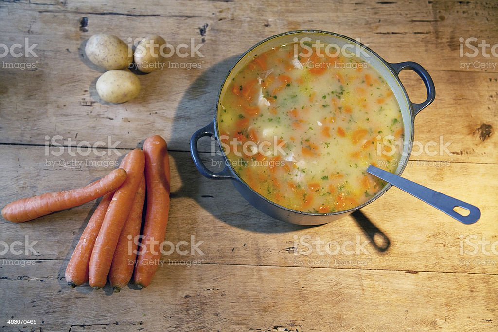 german carrot soup royalty-free stock photo