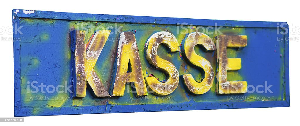 German cashpoint - kasse royalty-free stock photo