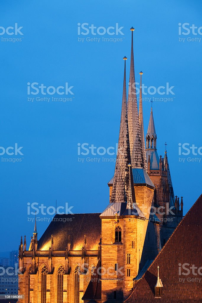 german cathedral at Dusk stock photo