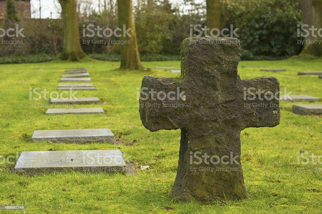German cemetery friedhof in flanders world war one belgium stock photo
