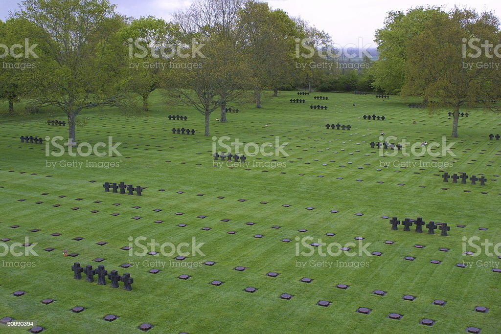 German cemetery in Normandy stock photo