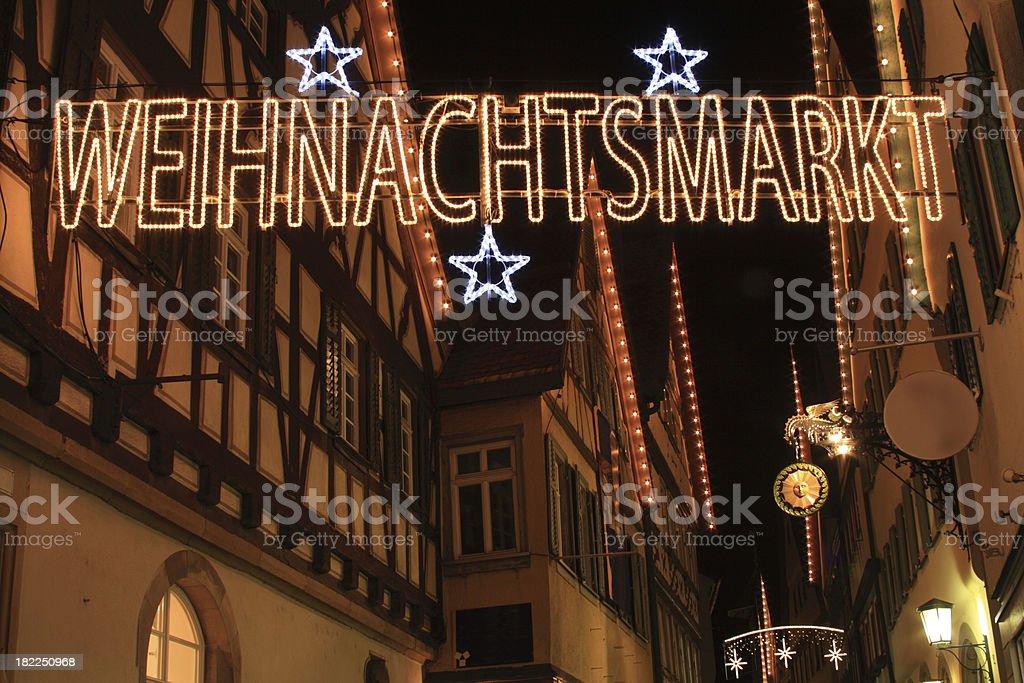 German Christmas Market sign royalty-free stock photo